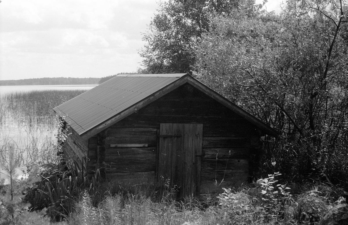 Sjöbod, Vällnora bruk, Vällnora, Knutby socken, Uppland 1987