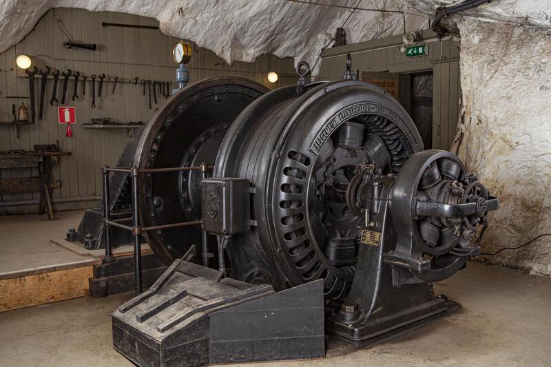 Det elektriske Kraftverket i gruva, turbin og generator. (Foto/Photo)