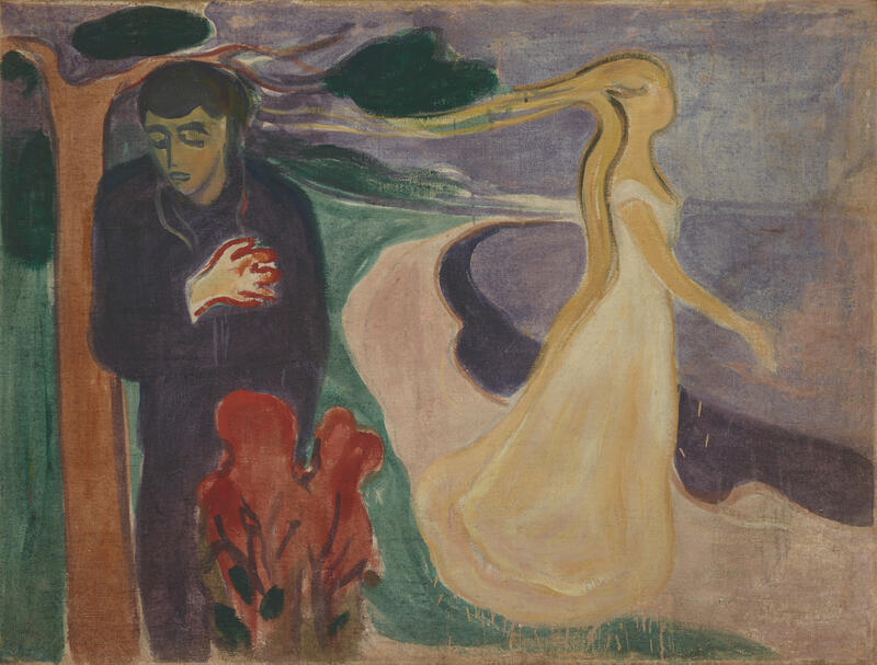 Maleriet Løsrivelse av Edvard Munch (Foto/Photo)