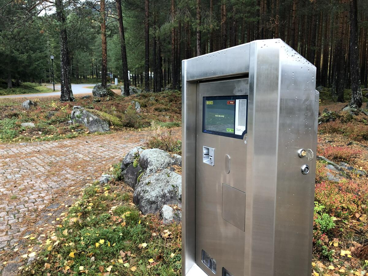 Betalingsautomat ved Norsk vegmuseum. Foto: Stian Tranung (Foto/Photo)