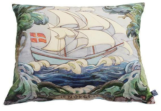 Seilskuten Norge, akvarell av Otto Valstad. Helt nydelig på sommerhytta eller i boligen ved kysten. Putestørrelse 60x50 cm. Kr. 775,- (Foto/Photo)