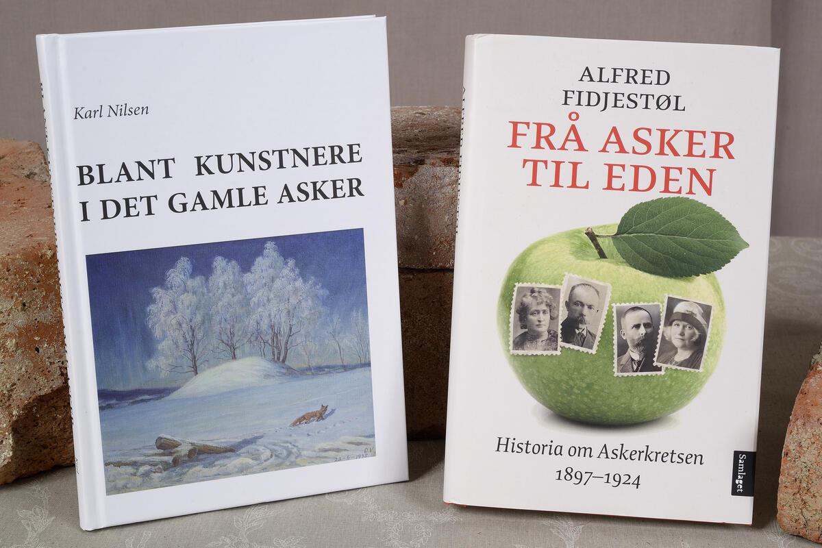 Blant kunstnere i det gamle Asker kr. 300,- og Frå Asker til Eden kr. 399,- (Foto/Photo)