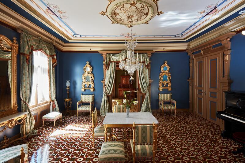 Den blå salong i Ibsens rekonstruerte hjem. (Foto/Photo)