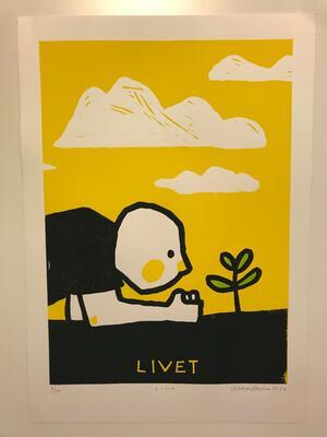 Livet, Andreas Brekke, Lino, 35x50cm, kr 1700,- (Foto/Photo)