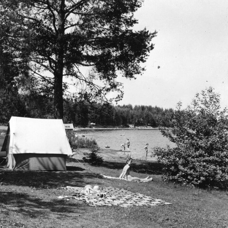 Vikodden Camping, Gjøvik, 1966. Foto: Nelly Westby Knutsen/Mjøsmuseet. (Foto/Photo)