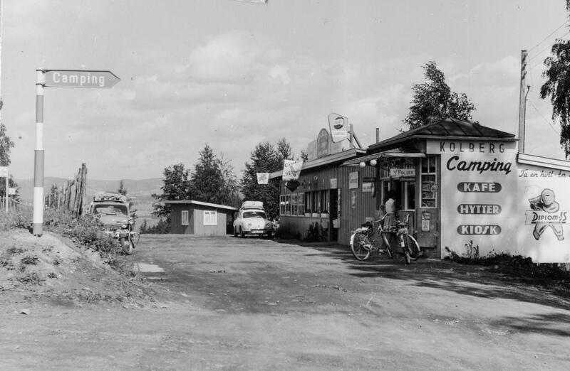 Kiosk og kafe på Kolberg Camping, Gjøvik. Foto: Nelly Westby Knutsen/Mjøsmuseet. (Foto/Photo)