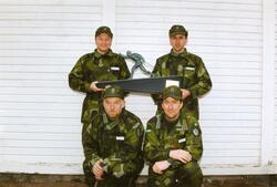 Ebersteinska priset. Stående kapten Göran Carnander, Ing 2 o