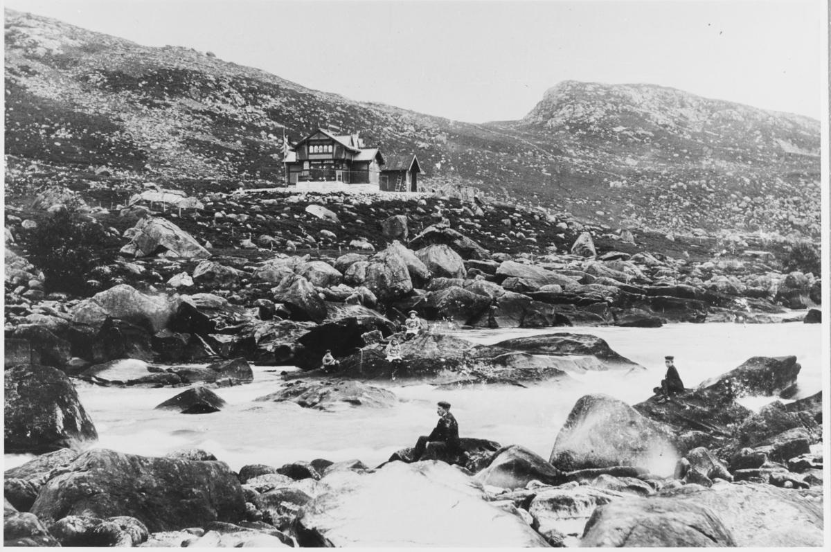 Laksheim i Bjerkreim, ca. 1900.