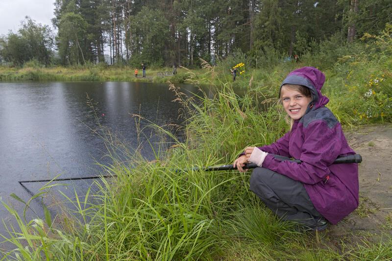 Barnas fiskedam på Anno Norsk skogmuseum. (Foto/Photo)