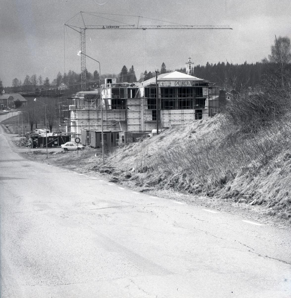 Bygge av servicehuset Ringshög i Rengsjö. 1992.