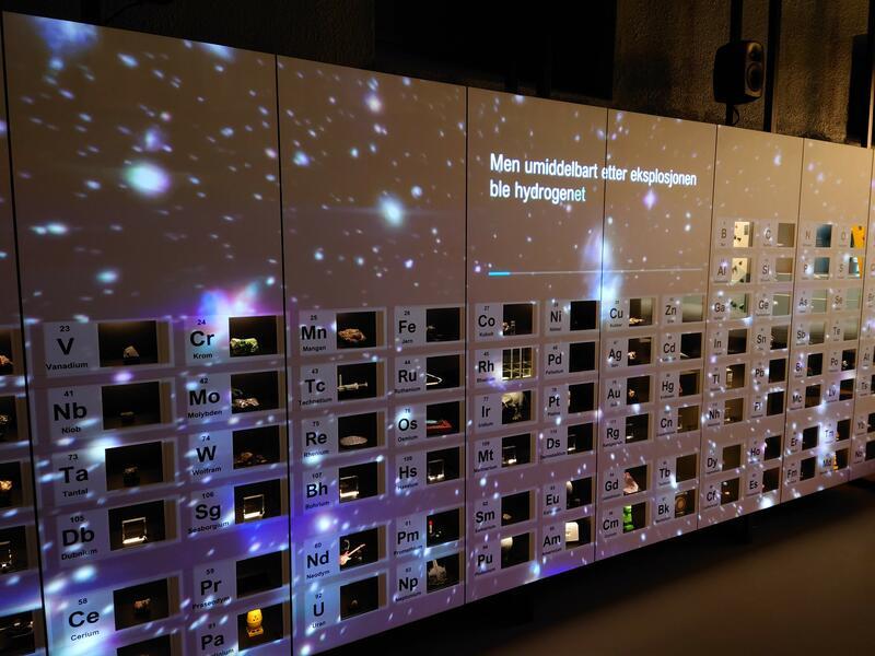 Et seks meter bredt interaktivt periodesystem (Foto/Photo)
