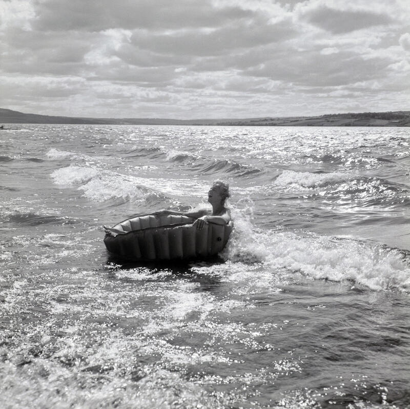 Hamar camping, Martodden, Hamar, 1959.  Foto: Normann Fotoatelier/Anno Domkirkeodden. (Foto/Photo)