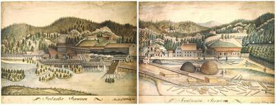 Akvareller av jernverket i Froland. Foto/Photo