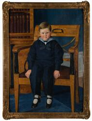 Porträtt av pojken Åke Ericson [Målning]