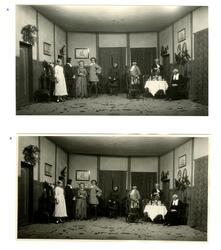"""A - Svart/hvitt foto fra forestillingen """"Tordenskiold i Dyne"""