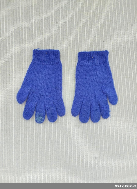 Blå hansker.