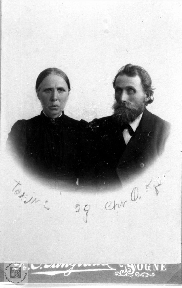 Ekteparet Tomine og Christen Kjær, Øyslebø.