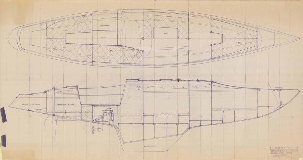 Projekt GF-40. Plan och profil
