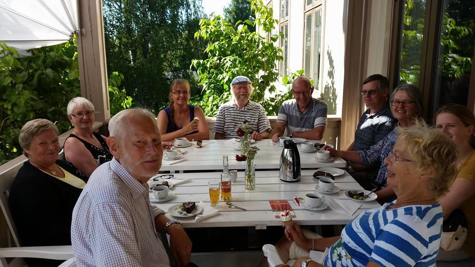 Sveitserstilverandaen med bursdagsselskap sommeren 2015