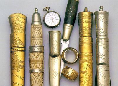 Kniver laget av tater/romanifolket. Foto/Photo