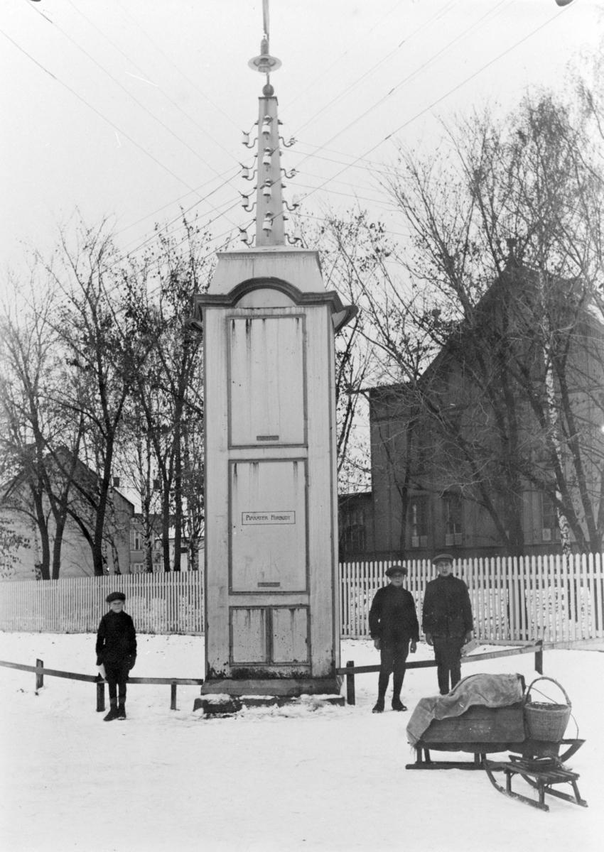 """Brumunddal transformatorstasjon, """"Sekundærstasjonen"""" 1919. Hamar Vang og Furnes kommunale kraftselskap."""