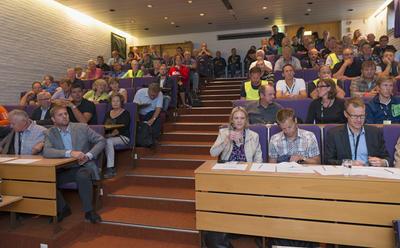 Fra seminaret Gull og grønne skoger i auditoriet under Jakt- og Fiskedagene 2014