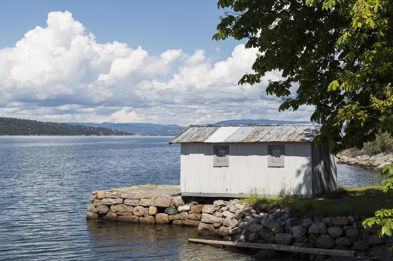 """Badehuset på """"Uranienborg""""."""