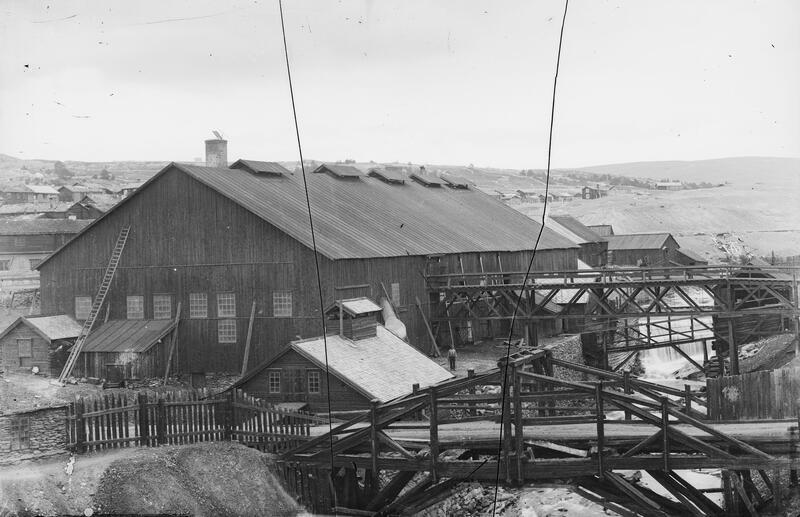 Smelthytta som stod ferdig i 1888
