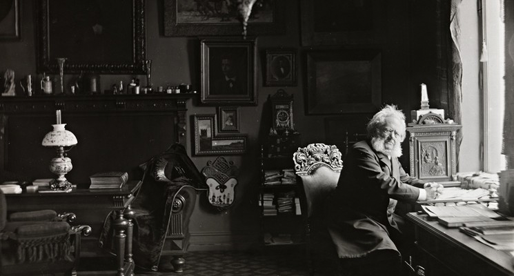 Henrik Ibsen in his study