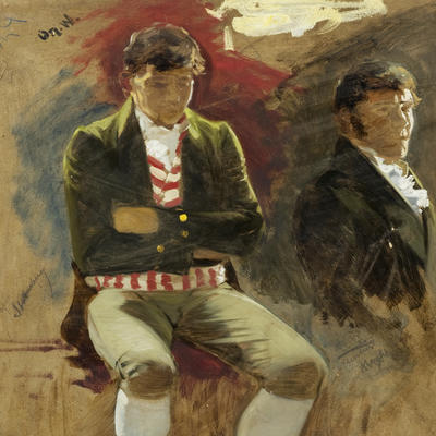 Portrait. Two men. Eidsvoll 1814. Oscar Wergeland