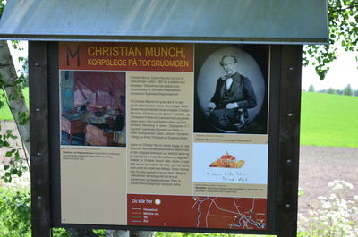 Munch path, info board at Tofsrud.