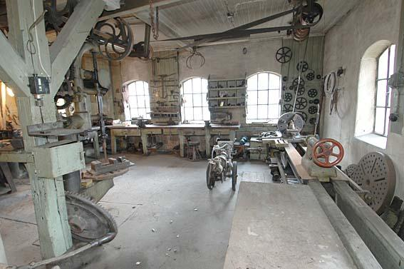 The machines in the workshop were also powered by hydropower. (Foto/Photo)