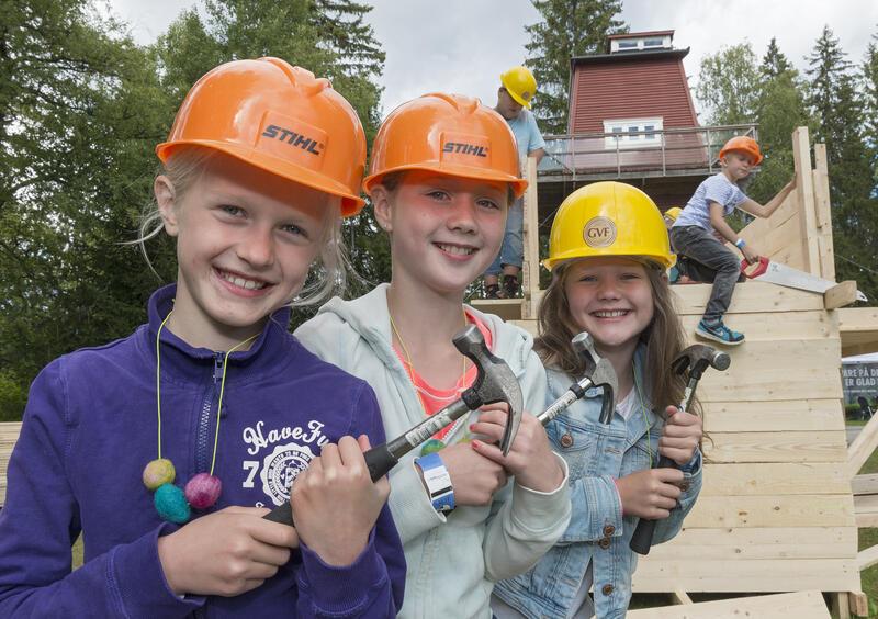 Barn i aktivitet på De nordiske jakt- og fiskedager