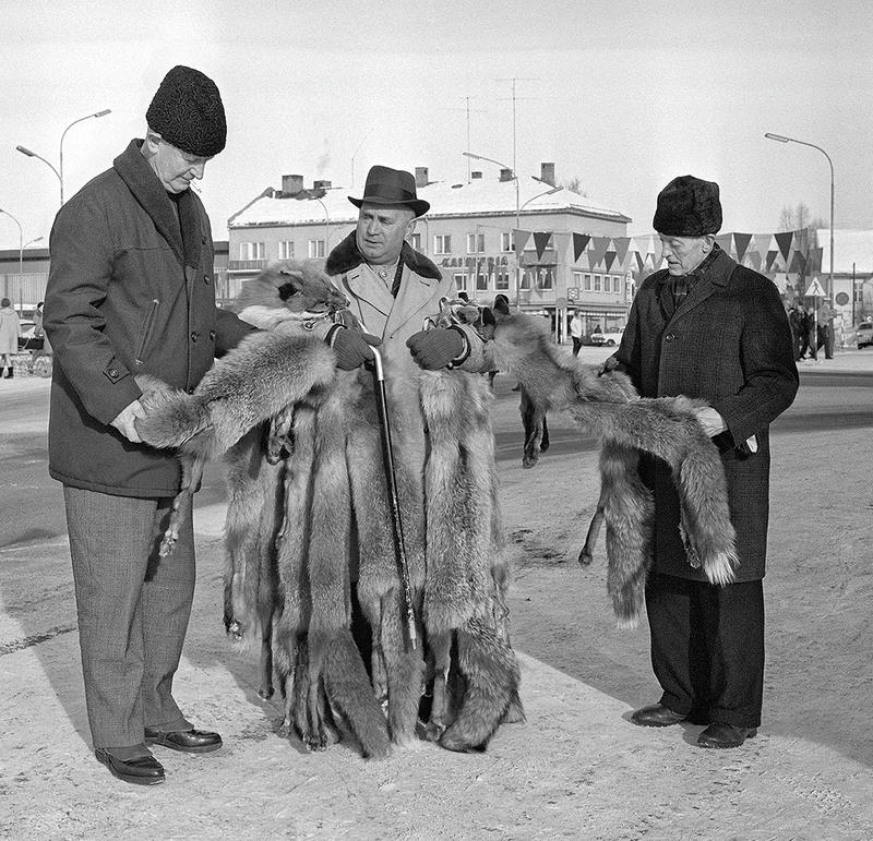 Skinnhandel på Grundsetmart'n i 1969.