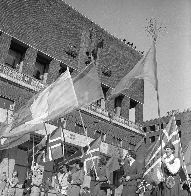 1. mai feiring, Oslo 1956 (Foto/Photo)