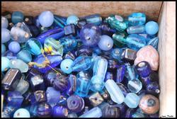 Blå glassperler (Foto/Photo)