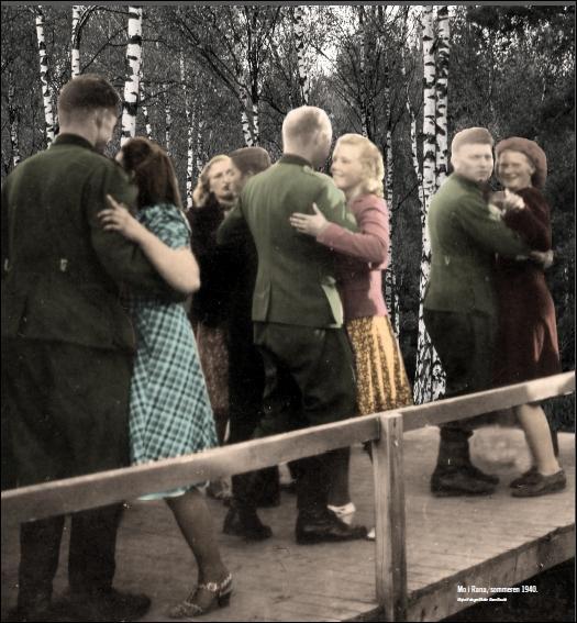 Norske kvinner med tyske soldater