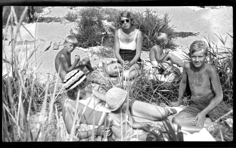 Familie på stranda