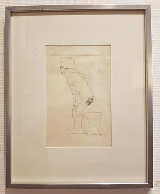 Tegning, uten tittel. Tegning. 50x40 cm.Kr. 3.333