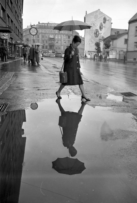 Regn i Oslo, juni 1963 (Foto/Photo)