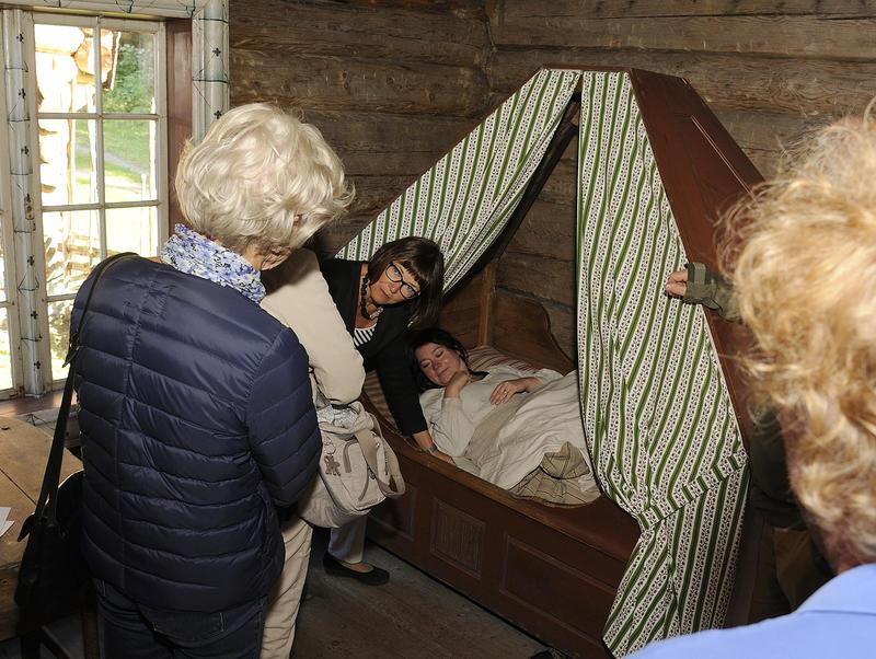 Hvor og hvordan man sov, varierte med stand og stilling.