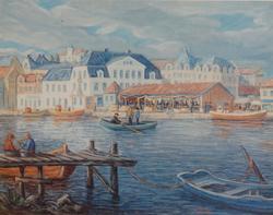 Fiskebrygga Fredrikstad [Trykk]