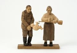 Barnet väges/Den förstfödde väges  [Skulpturgrupp]
