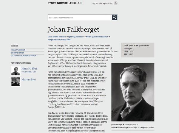 Falkberget - Store Norske Leksikon. Foto/Photo