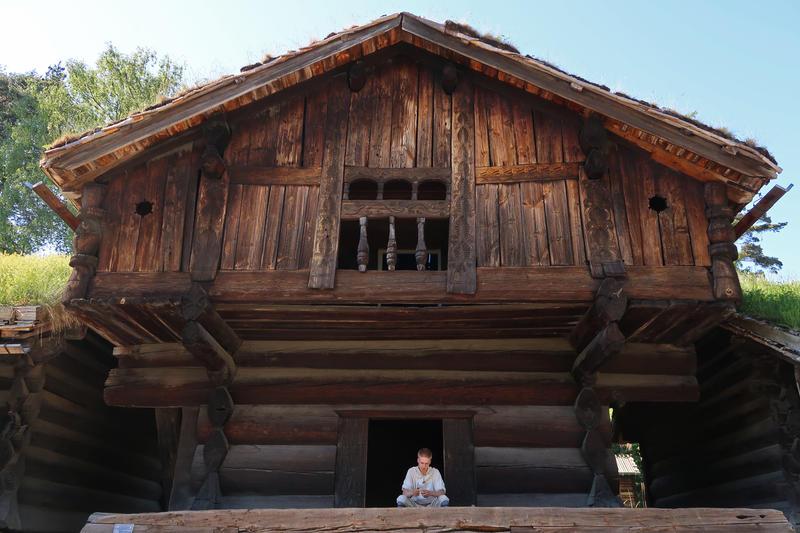 Loft fra Ose, Setesdal på Norsk Folkemuseum. Foto: Astrid Santa, Norsk Folkemuseum.