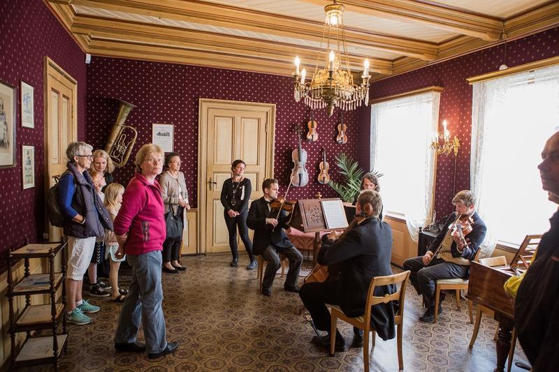 Kvartalkvartetten spilte i Storstuen. Foto: Jan Ove Iversen