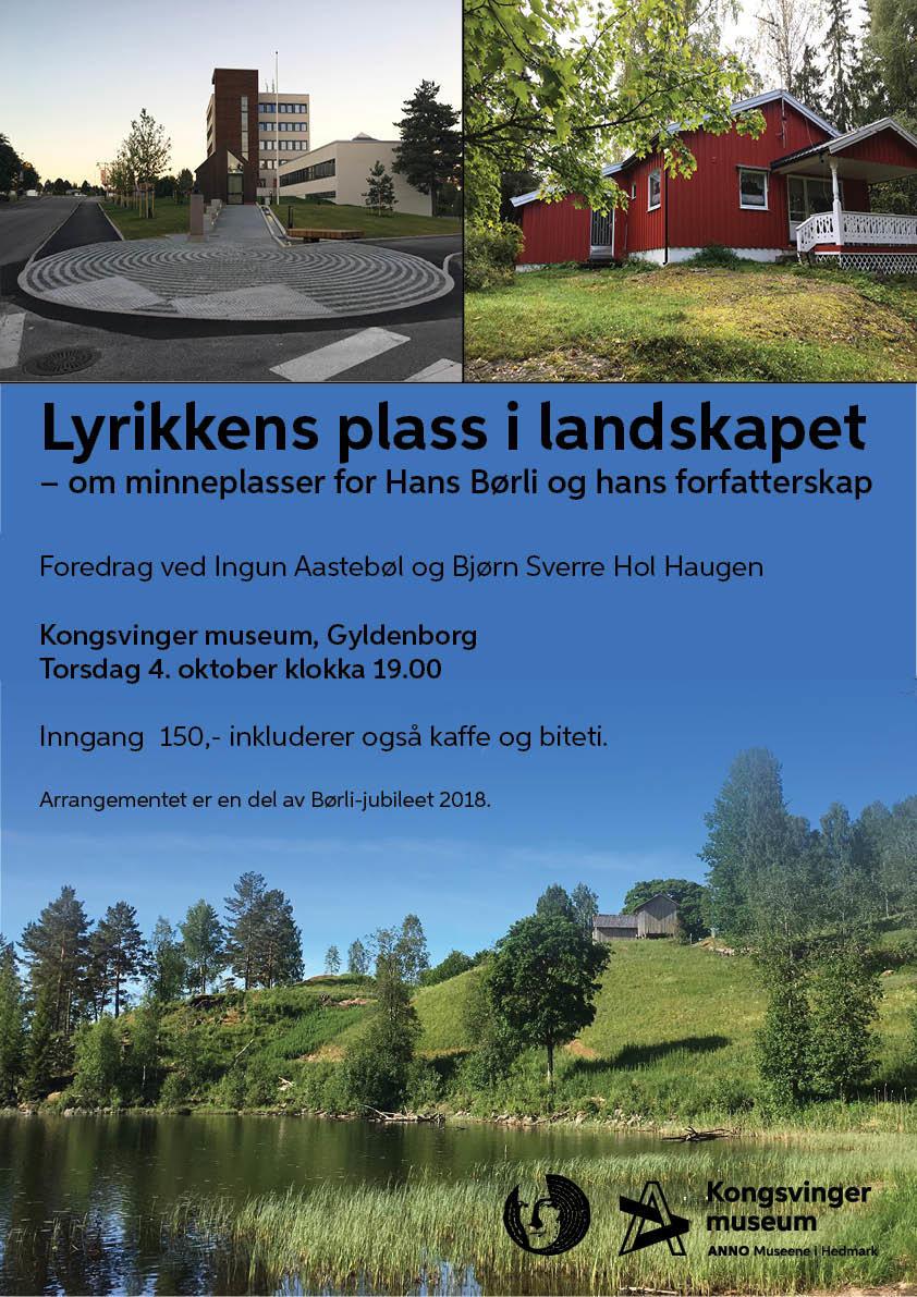 Plakat: Lyrikkens plass i landskapet
