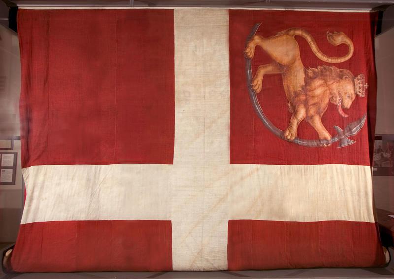 Fredrikstens festnings flagg fra 1814.