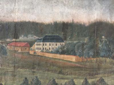 Torderød gård situasjon ca slutten av 1700-tallet