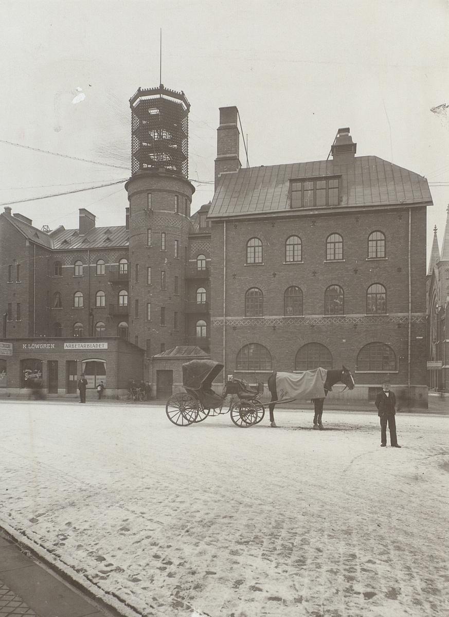 Gävle. Äldre telefonstation år 1900. Exteriör.